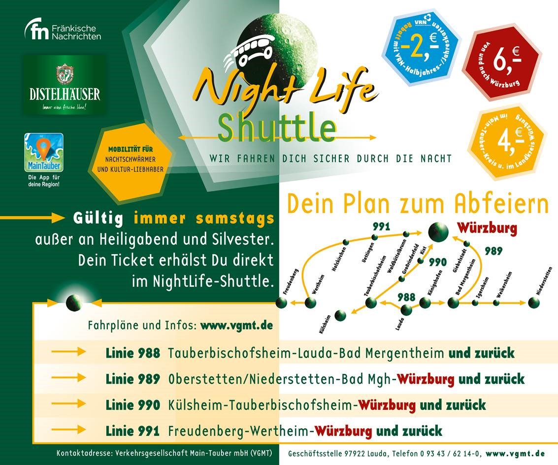 NightLifeShuttle Flyer; Quelle: vgmt